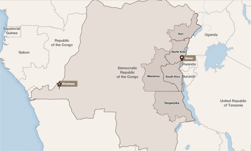 Map of Eastern Congo
